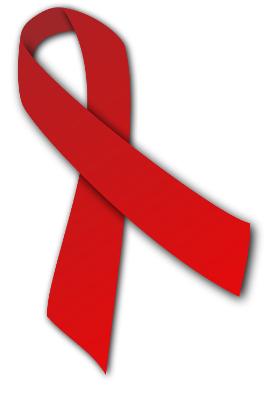 Die Rote Schleife als Symbol der Solidarität mit HIV-positiven und AIDS-kranken Menschen
